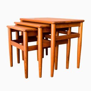 Tables Gigognes en Teck de Salin Møbler, Danemark, 1960s
