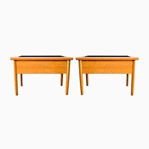 Mesas danesas con maceta, años 60. Juego de 2