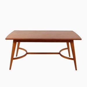 Holz Tisch mit Kompassbeinen, 1960er