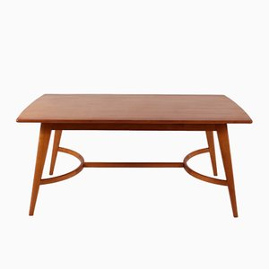 Wooden Table on Compass Legs, 1960s