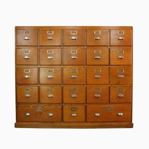Large French Bank Of Drawers, 1930s