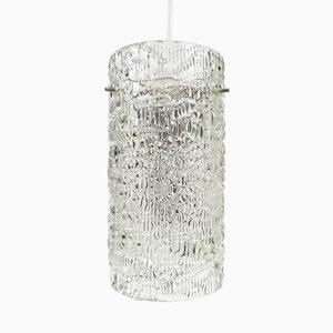 Österreichische Glas Hängeleuchte von Kalmar, 1960er