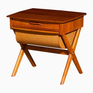 Swedish Sewing Table in Teak, 1960s