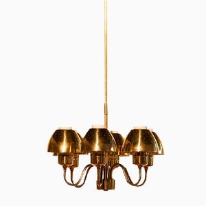 Brass Chandelier by Hans Agne Jakobsson for Markaryd, 1960s