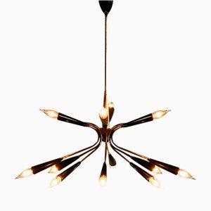 Brass Sputnik Chandelier from Stilnovo, 1950s