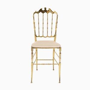 Italian Mid-Century Modern Chiavari Chair in Brass, 1950s