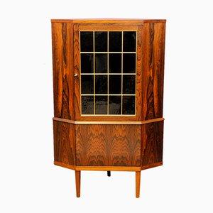 Vintage Danish Palisander Corner Cabinet