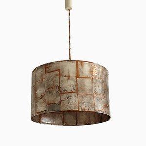 Lámpara colgante con hoja plateada de Idealheim, 1961