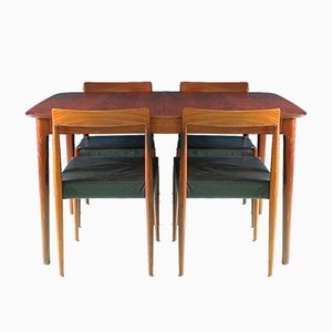 Mid-Century Rosewood Dining Set from Lübke