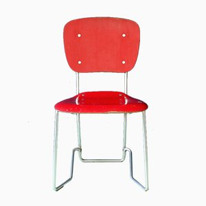 Vintage Aluflex Folding Chair by Armin Wirth for Hans Zollinger & Söhne