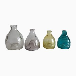 Glas Fliegenfallen, 1960er, 4er Set