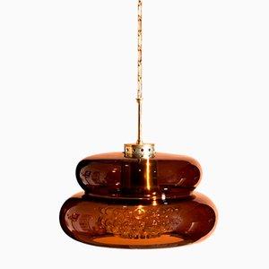 Lampe à Suspension Modèle Bubblan en Verre Fumé par Carl Fagerlund pour Orrefors, 1970s
