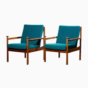 Lounge Chairs by Torbjørn Afdal for Sandvik & Co. Mobler, 1950s, Set of 2