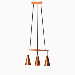 Copper Pendant Lamp by Hans-Agne Jakobsson, 1950s