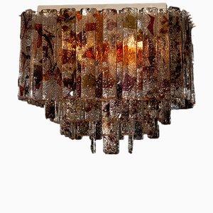 Lampada da soffitto quadrata Mid-Century moderna di Mazzega, Italia