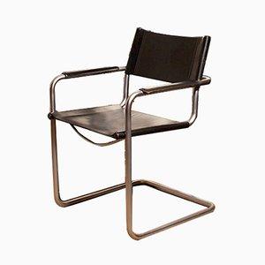 Schwarzer italienischer Sessel von Matteo Grassi, 1970er