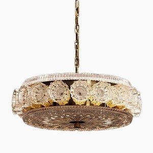 Lámpara de techo sueca vintage de Carl Fagerlund para Orrefors