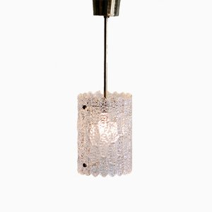 Lampada a sospensione vintage in cristallo di Carl Fagerlund per Orrefors