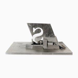 Escultura modernista de Yves Millecamps para Sollac, 1989