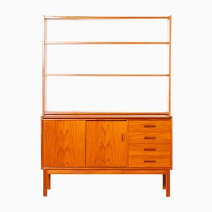 Teak Wall Unit with Bookcase and Desktop, 1960s