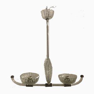 Lámpara colgante de cristal de Murano de Ercole Barovier, años 40