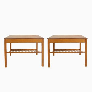 Mid-Century Bedside Tables with Drawers from Tingströms, Set of 2