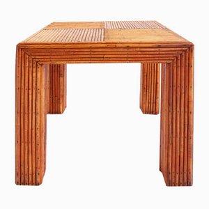 Mesa de centro italiana de bambú, años 60