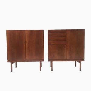 Wooden Cabinets by Jos De Mey for Van den Berghe-Pauvers, 1960s, Set of 2
