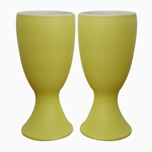 Ceramic Mazagran Cups by Pol Chambost, 1950s, Set of 2