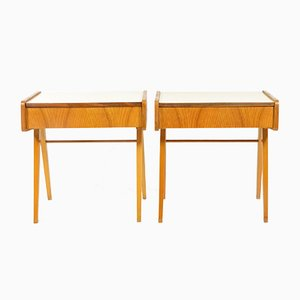 Bedside Tables with Formica Tops, 1970s, Set of 2