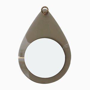 Specchio Freeform in vetro e ottone, anni '60