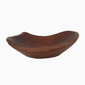 French Hand-Carved Free-Form Wood Dish, 1960s