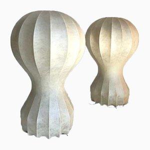 Lámparas de mesa Gatto Piccolo de Castiglioni Brothers para Flos, años 60. Juego de 2