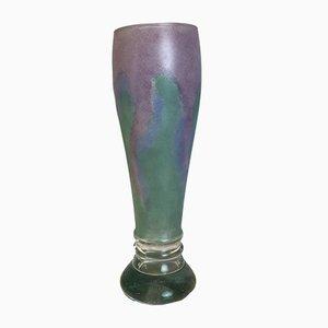 Vaso in vetro artistico di Ulla Hoglund per Rihimiki, Scandinavia, anni '90