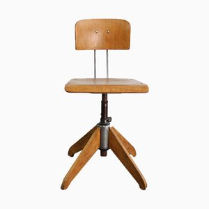 Industrial Work Stool by Robert Wagner for Rowac, 1940s