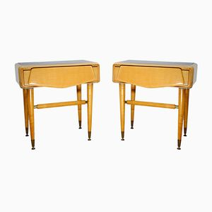 Bedside Tables in Maple from La Permanente Mobili Cantù, 1950s, Set of 2