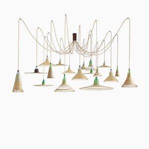 Lámpara PET colección Chimbarongo de 18 luces de Alvaro Catalán de Ocón para ACdO/