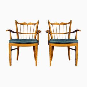 Kirschholz Stühle von Schildknecht, 1956, 2er Set