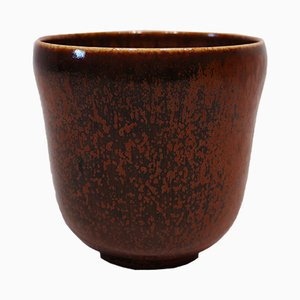 Vintage No. 363 Brown Ceramic Vase by Nathalie Krebs for Saxbo