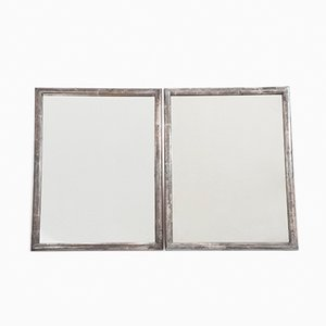 Art Deco Silvered Mirrors, 1940s, Set of 2