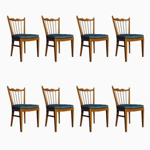 Kirschholz Stühle von Schildknecht, 1956, 8er Set