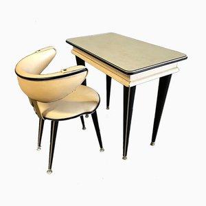 Frisiertisch und Stuhl von Umberto Mascagni, 1950er