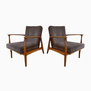 Lounge Chairs by Ib Kofod Larsen for Selig, 1960s, Set of 2