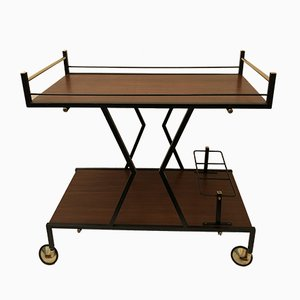 Vintage Italian Iron & Wood Cart