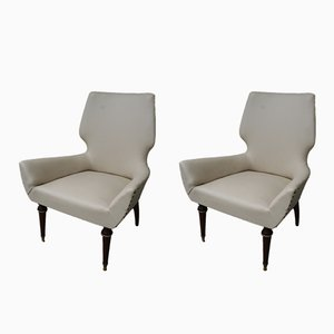 Italian Armchairs, 1950s Set of 2