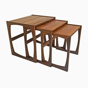 Scandinavian Teak Nesting Tables, 1960s