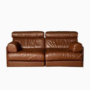 Divano letto modulare a due posti DS-76 Mid-Century marrone di de Sede