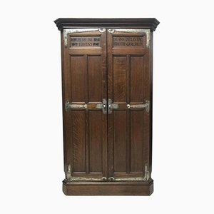 Antique Arts & Crafts Oak Corner Cupboard from Liberty & Co