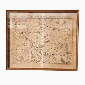 Mapa de la región de Abbeville antiguo de Eugene Henry Fricx, década de 1710
