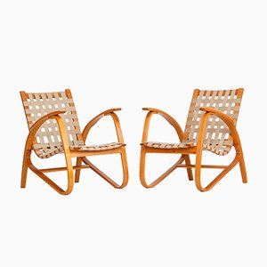 Armchairs by Jan Vanek for UP Závody, 1930s, Set of 2